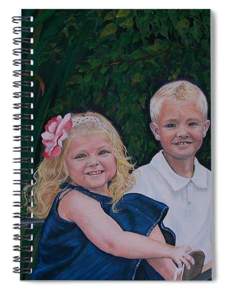 Grampa And Gramma's Joy  Spiral Notebook