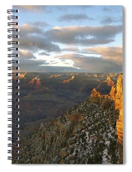 Grand Canyon. Winter Sunset Spiral Notebook