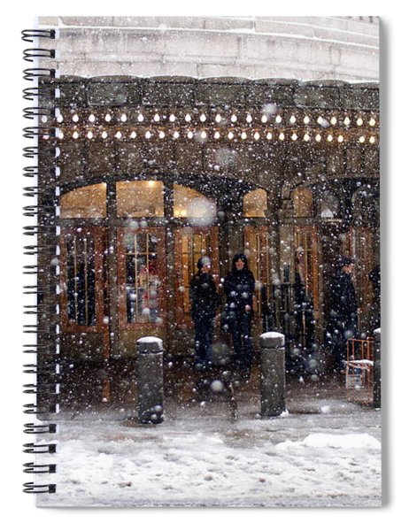 Grand Central Terminal Snow Color Spiral Notebook