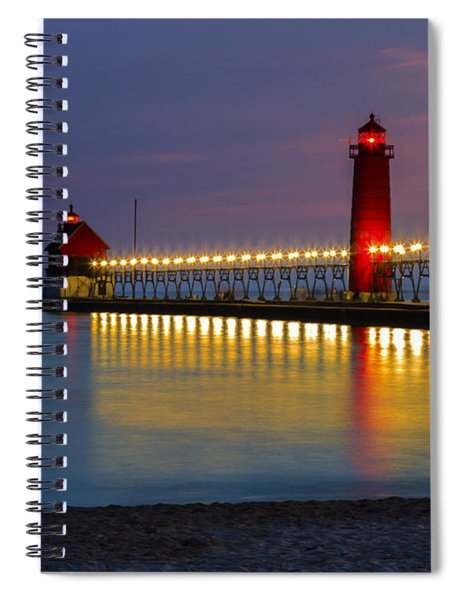 Grand Haven South Pier Lighthouse Spiral Notebook