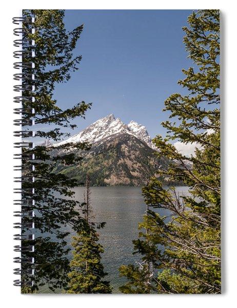 Grand Teton On Jenny Lake - Grand Teton National Park Wyoming Spiral Notebook