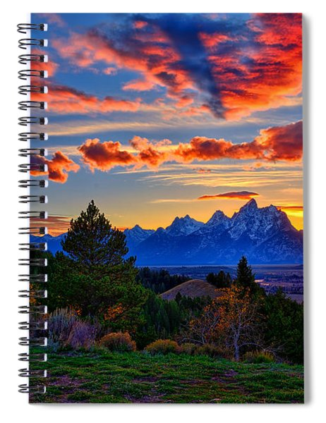 Grand Teton Sunset Spiral Notebook
