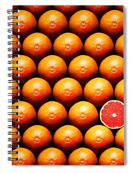 Grapefruit Slice Between Group Spiral Notebook