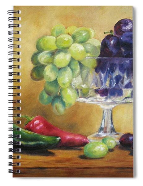 Grapes And Jalapenos Spiral Notebook