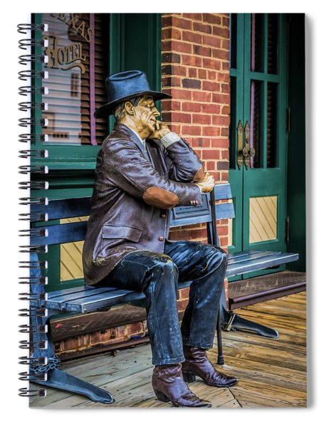 Spiral Notebook featuring the photograph Grapevine Cowboy by Robert Bellomy