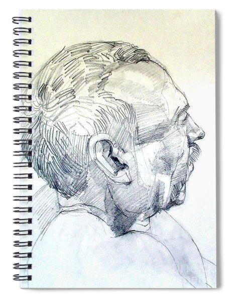 Graphite Portrait Sketch Of A Man In Profile Spiral Notebook