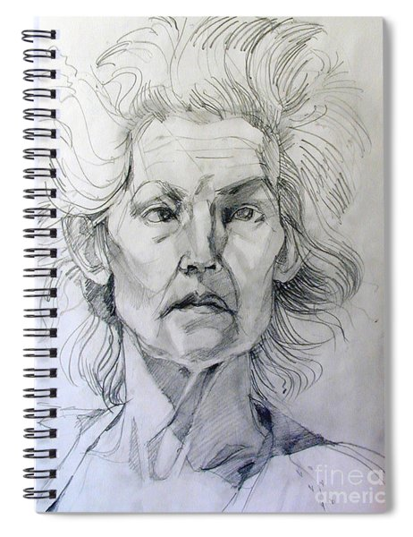 Graphite Portrait Sketch Of A Well Known Cross Eyed Model Spiral Notebook