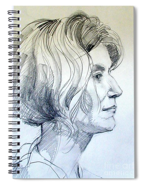 Portrait Drawing Of A Woman In Profile Spiral Notebook