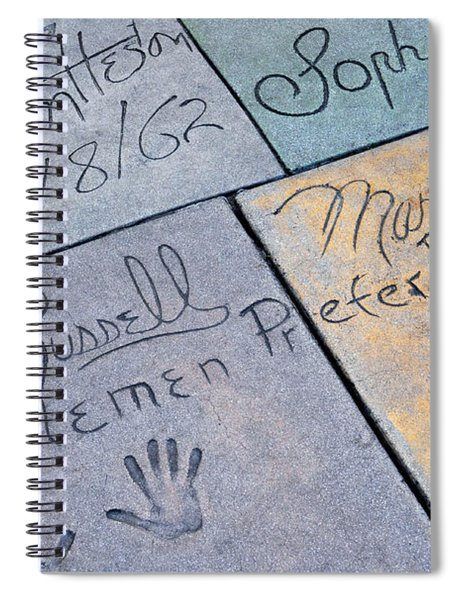 Grauman's Chinese Theatre Marilyn Monroe Spiral Notebook