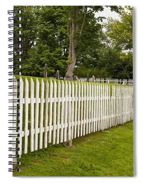 Grave Yard With White Fence Spiral Notebook