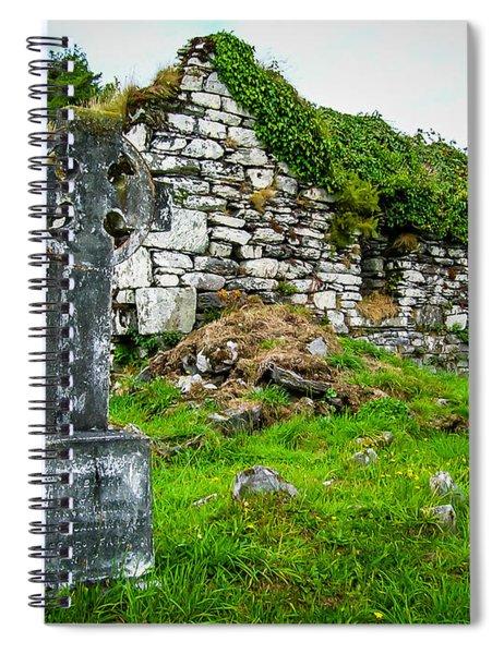 Graveyard And Church Ruins On Ireland's Mizen Peninsula Spiral Notebook