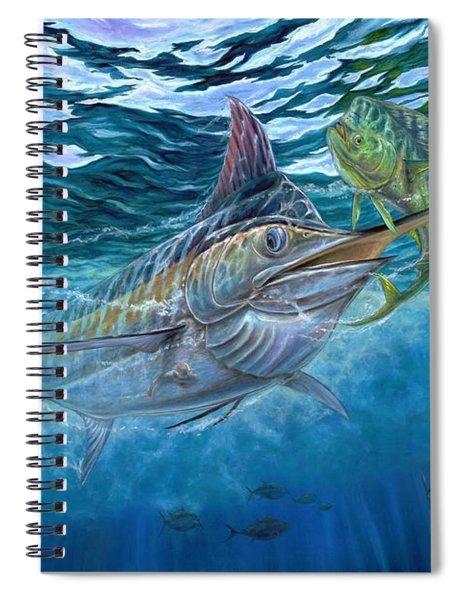 Great Blue And Mahi Mahi Underwater Spiral Notebook