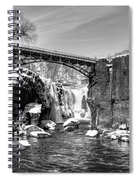 Great Falls In The Winter Spiral Notebook