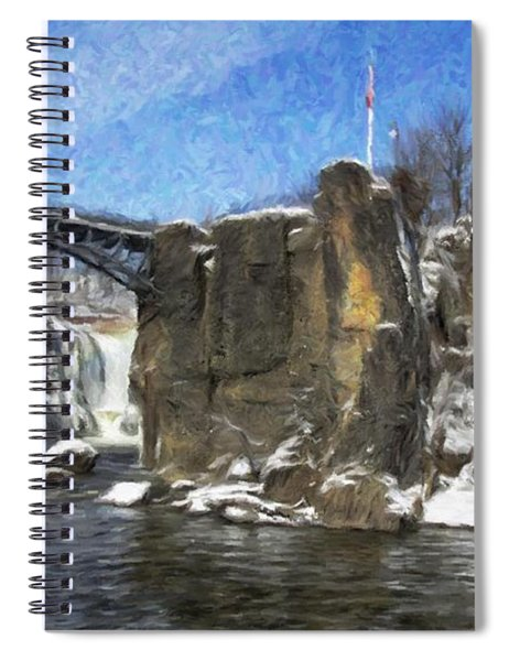 Great Falls Painted Spiral Notebook