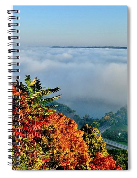 Great River Road Fog Spiral Notebook