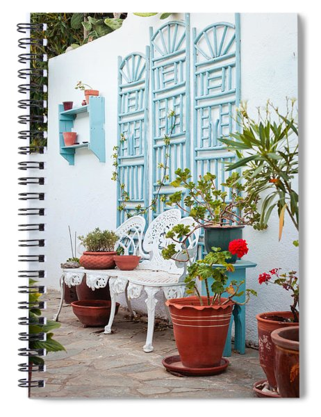 Greek Courtyard Spiral Notebook