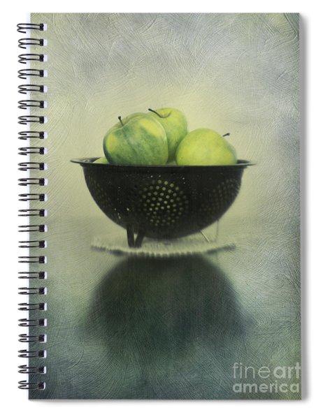 Green Apples In An Old Enamel Colander Spiral Notebook