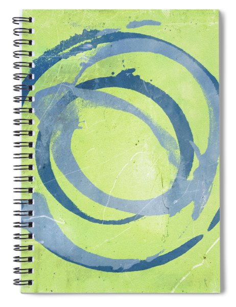 Green Blue Spiral Notebook