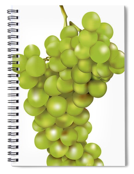Green Bunch Of Grapes Spiral Notebook