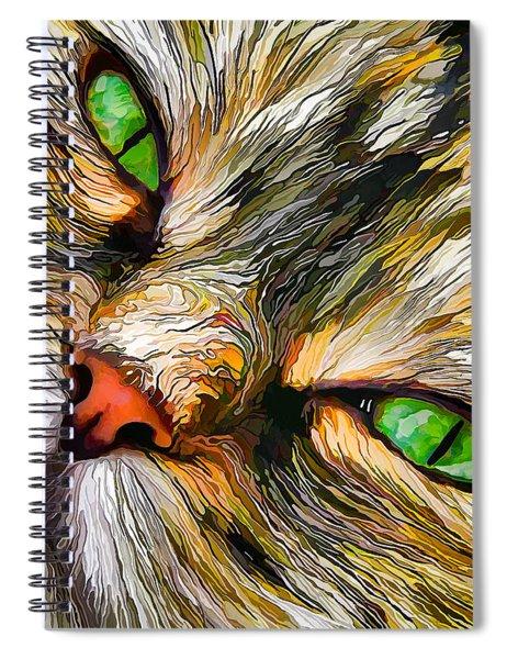 Green-eyed Tortie Spiral Notebook
