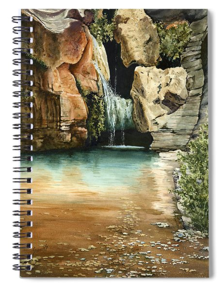 Green Falls II Spiral Notebook