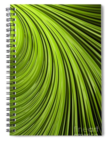 Green Flow Abstract Spiral Notebook