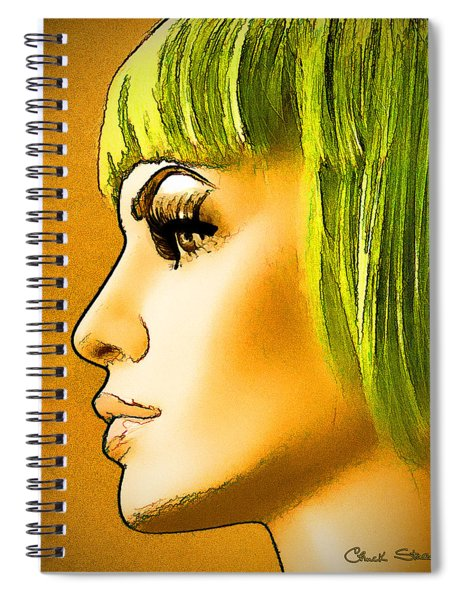 Green Hair Spiral Notebook