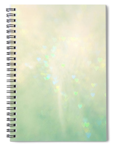 Green Hearts Spiral Notebook