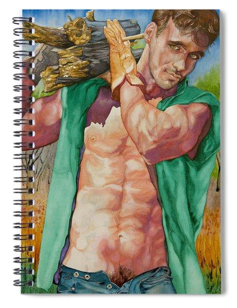 Green Lumberjack Spiral Notebook