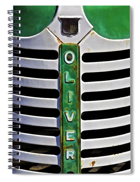 Green Oliver Farm Tractor Spiral Notebook