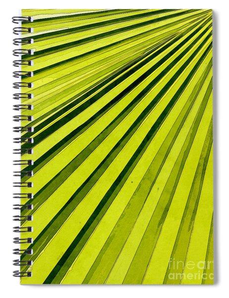 Green Palm Frond Spiral Notebook