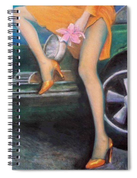 Green Porsche Spiral Notebook