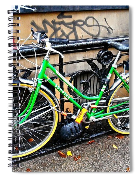 Green Schwinn Bike  Nyc Spiral Notebook