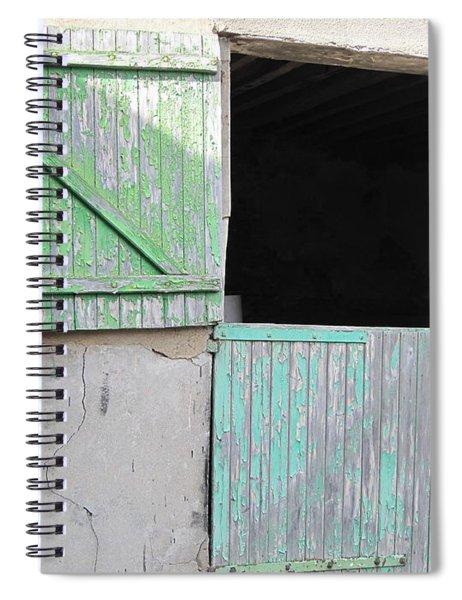 Green Stable Door Spiral Notebook