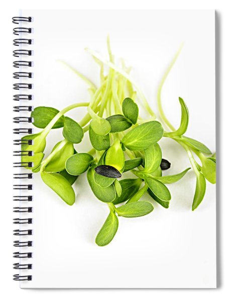 Green Sunflower Sprouts Spiral Notebook