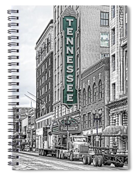 Green Tennessee Theatre Marquee Spiral Notebook