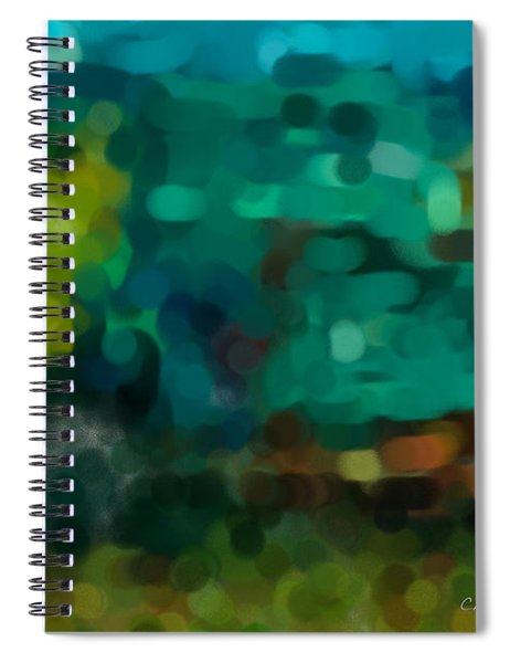 Green Truck In Abstract Spiral Notebook