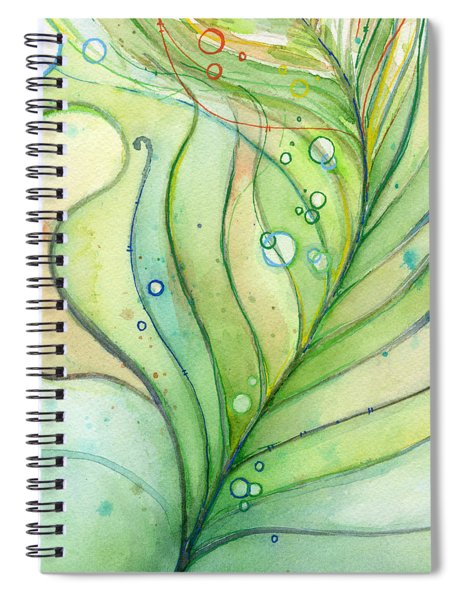 Green Watercolor Bubbles Spiral Notebook