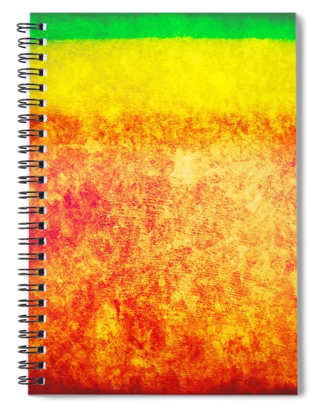 Green Yellow Red Texture Spiral Notebook