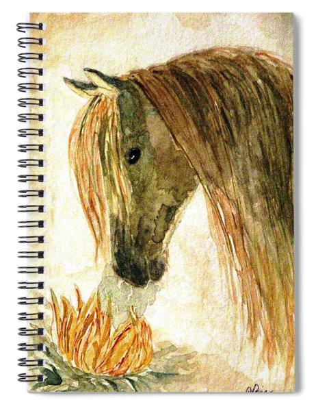 Greeting A Sunflower Spiral Notebook