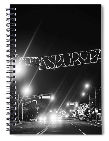 Greetings From Asbury Park New Jersey Black And White Spiral Notebook