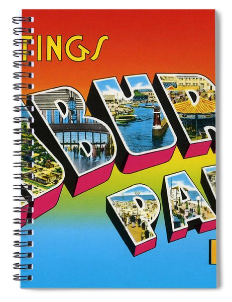 Greetings From Asbury Park Nj Spiral Notebook