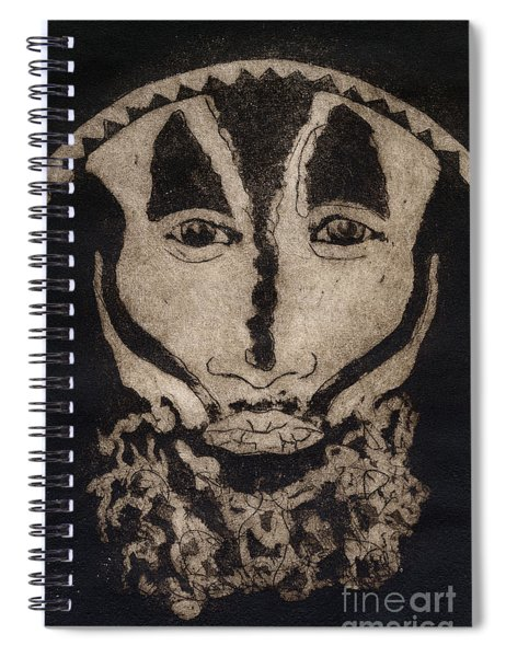 Greetings From New Guinea - Mask - Tribesmen - Tribesman - Tribal - Jefe - Chef De Tribu Spiral Notebook