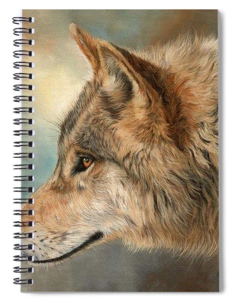 Grey Wolf 3 Spiral Notebook