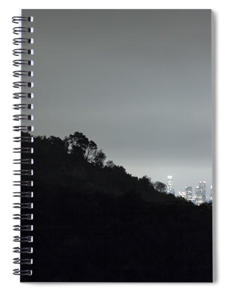 Griffith Park Observatory And Los Angeles Skyline At Night Spiral Notebook
