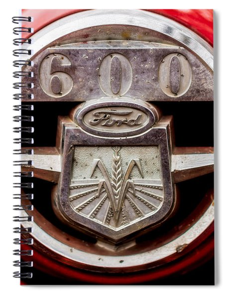 Grill Logo Detail - 1950s-vintage Ford 601 Workmaster Tractor Spiral Notebook