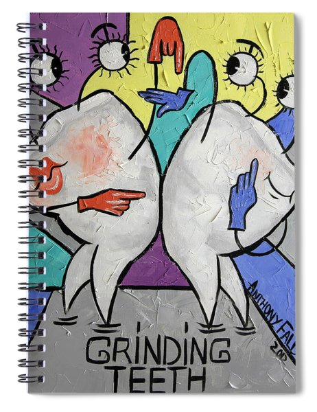 Grinding Teeth Spiral Notebook