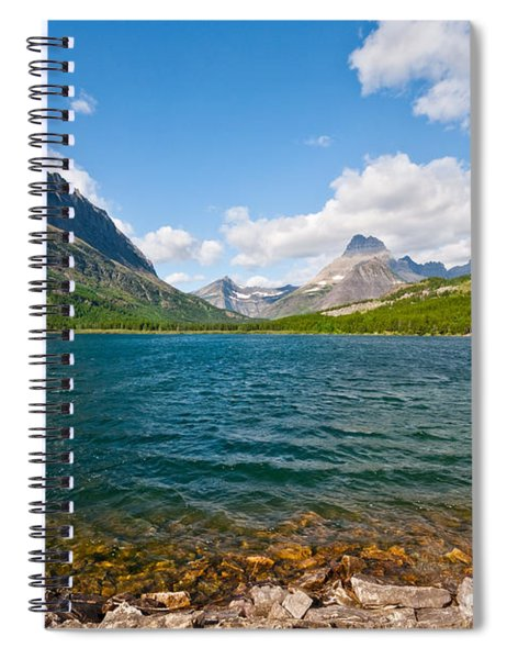 Grinnell Point From Swiftcurrent Lake Spiral Notebook