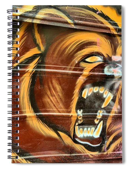 Grizzly Bear From A Box Car Spiral Notebook