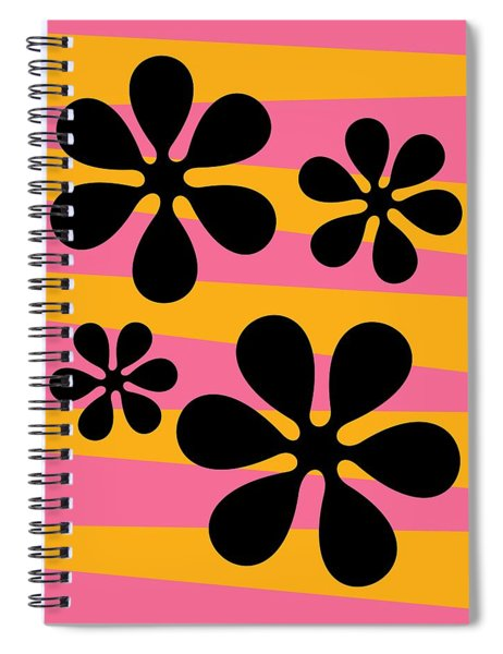 Groovy Flowers I Spiral Notebook